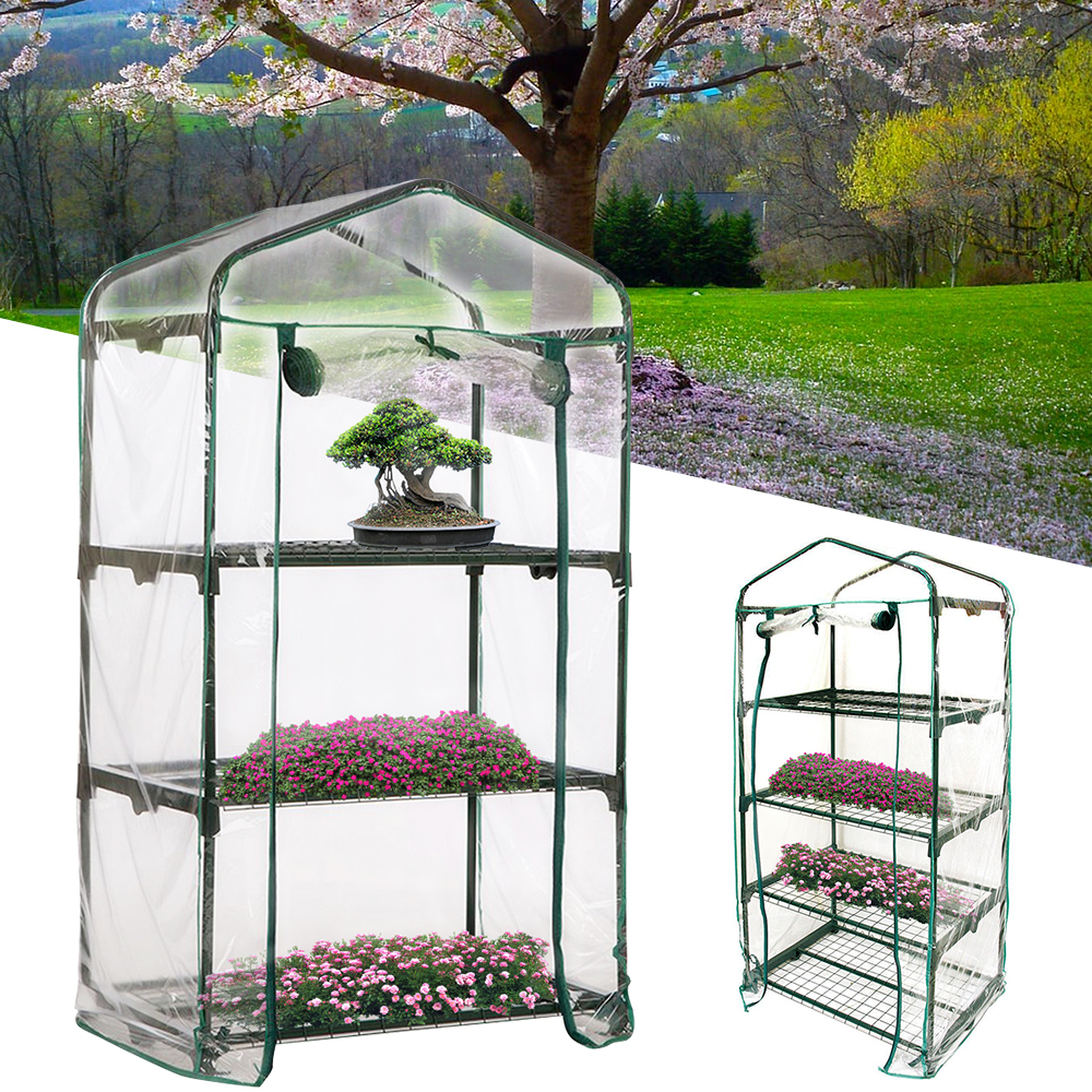 3/4-Tier Portable Greenhouse PVC Cover Garden Cover Plants Flower House For Outdoor Growing Seedlings Waterproof Plants Cover