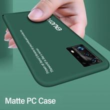 Ultra-ince renkli mat sert PC telefon kılıfı için Huawei P40 P30 P20 lite Mate 30 20 10 Pro onur 8 sevimli darbeye dayanıklı buzlu kapak