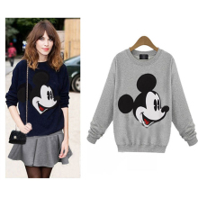 Autumn Women Sweatshirts Mickey Hoodies Character Printed Casual Pullover Cute Top Long Sleeve O-Neck Fleece Minnie Tops M-4XL