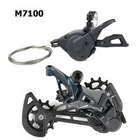NEW Shimano SLX M7100 12 Speed 1x12 Groupset kit with SLX M7100 Shifter Lever Trigger Shift with Rear Derailleur SGS Long Cage