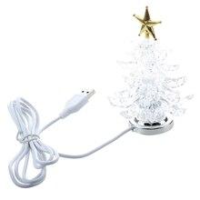 Миниатюрная Рождественская елка с питанием от USB и разноцветными светодиодами