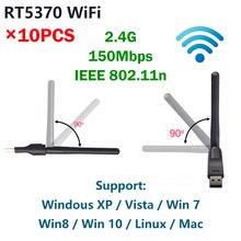 USB Wi Fi антенна RT5370 с чипом Ralink, 150 Мбит/с, 2,4 ГГц, 802.11b/g/n, USB 5370