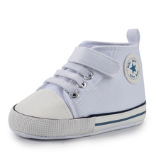 New Canvas Classic Sports Shoes Newborn Baby Boys Girls First Walkers Shoes Infant Toddler Soft Sole Anti-slip Baby Shoes Winter cheap Meckior CN(Origin) Four Seasons baby unisex 0-6m 7-12m 13-24m Cotton Fabric PATCH Lace-up Print Fits true to size take your normal size