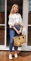 Белая блуза с перфорацией Цена 963 руб. ($11.93) | 272 заказа Посмотреть