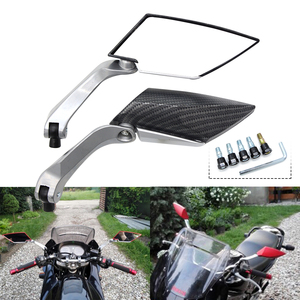 Image 5 - Motorbike Motorcycle Big Rearview Mirror Folding Side Mirrors CNC Aluminum Adjusting for yamaha tmax 530 triumph benelli trk 502