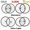 OZUZ Novatec A271SB Powerway R13 24 мм карбоновые колеса Clincher, ультра-Стандартный Светильник, велосипедные диски 3 к, матовая карбоновая велосипедная колес...