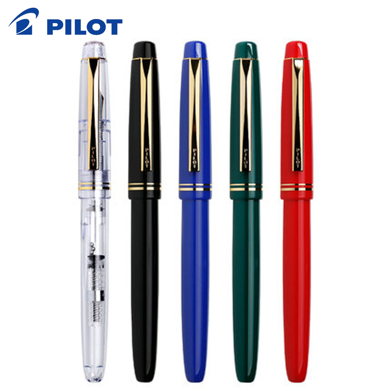 2Pcs PILOT 78G+ Fontain Pen 22K Gold Plated Nib Fountain Pen Original Or IC-50 INK Cartridges Refills 4 Colors To Choose