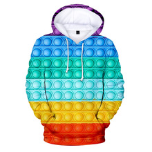 Manufacturer's source Rainbow color spring and autumn new adult children's clothing fleece hooded sweater casual sports sweater