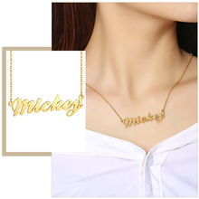 Custom Elegant Women Name Necklaces Unique Gift Stainless Steel Personalized Lady Party Wedding Jewelry