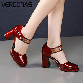 VERCONAS Women 2020 Round Toe Lace Up Brand Design Popular Top Quality Sandals High Heels Party Pumps Summer Sweet Shoes Woman