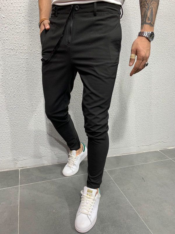 2019 Sun Hot Selling Europe And America Men Woven Fabric Casual Versatile Jogging Ankle Banded Pants C120