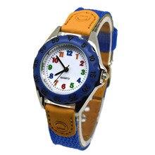 Милые кварцевые часы для мальчиков и девочек, детские часы с тканевым ремешком, часы для студентов, наручные часы, подарки NIN668
