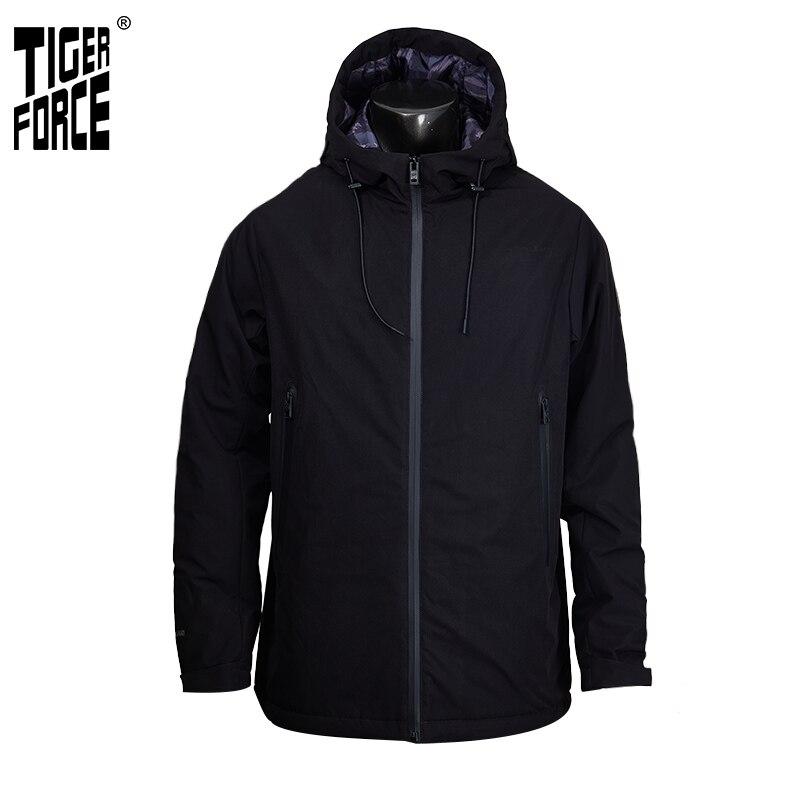 Tiger Force 2019 New Men Spring Jacket Hooded Casual Windbreaker Plus Size Fashion Bomber Jacket Man Windproof Coat Outerwear
