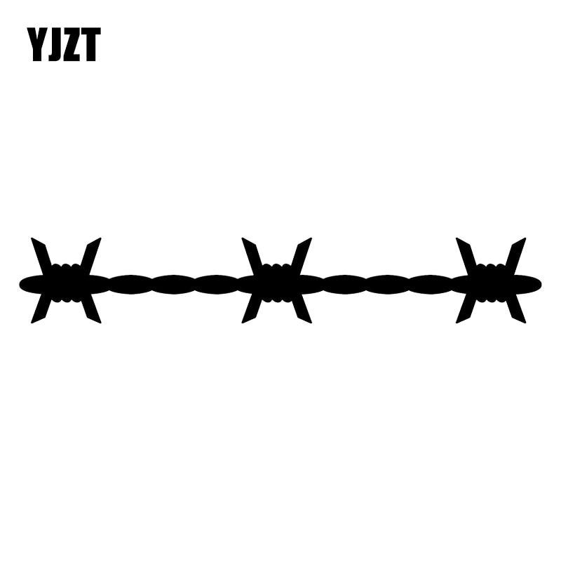 YJZT 18X2.9CM Barbed Wire Creative Vinyl Car Sticker Bumper Decoration Decals C25-0495
