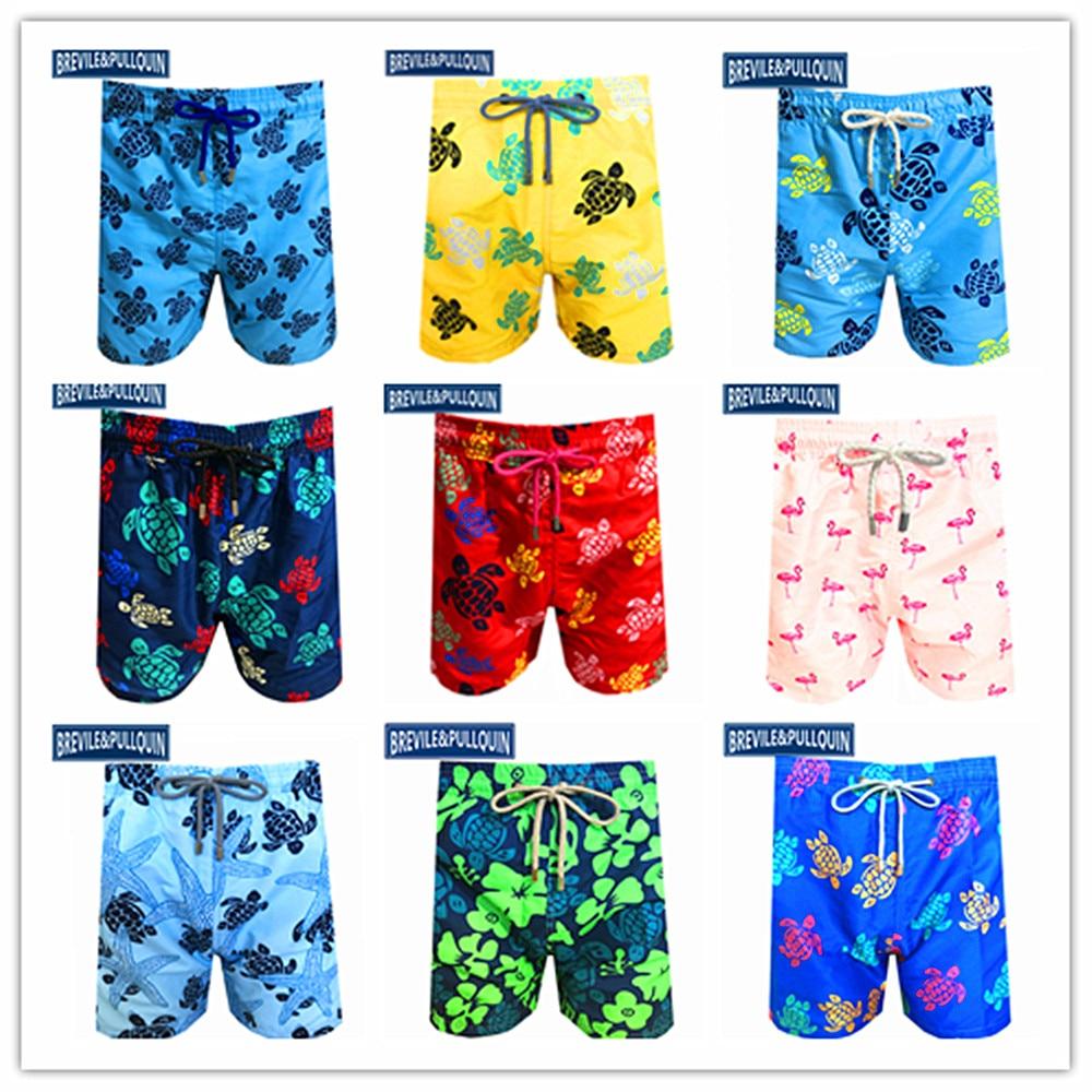 Cartoon Cute Color Cat Board Shorts Sports Quick Dry Short Pants Summer Swimwear