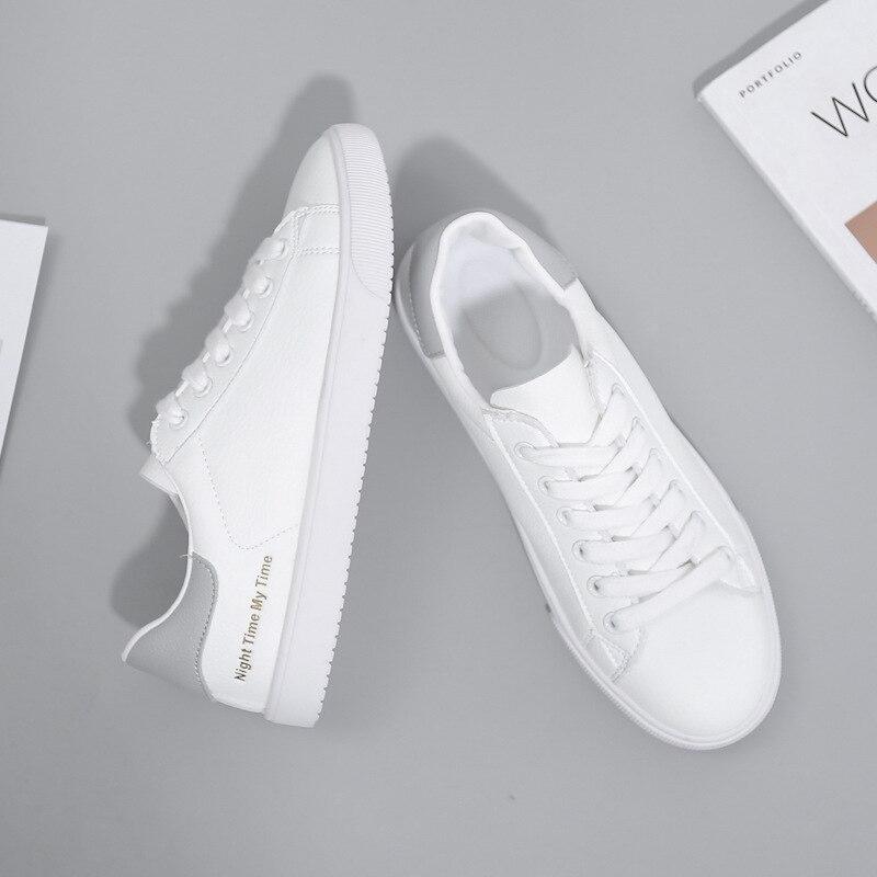 BACKCAMELSmall Weiß Schuhe Weibliche 2019 Frühling Neue Mikrofaser Leder Gürtel mit Niedrigen Gummi Boden Rutsch Tragen ResistanceSIZE37 40 - 2