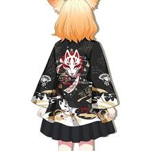 Kimono kobiety Haori Yukata kobiece japońskie Kimono Cardigan Cosplay Kawaii miękka koszula dziewczęca japonia ubrania damskie Kimono FF2020 tanie tanio EASTQUEEN WOMEN CN (pochodzenie) Poliester Odzież azji i pacyfiku wyspy Trzy czwarte Tradycyjny odzieży