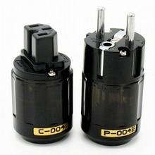 Oyaide C 004 P 004E Schuko Europe EU Power Plug Rhodium Plated  IEC Audio Connector Female Male MATIHUR audio  hifi