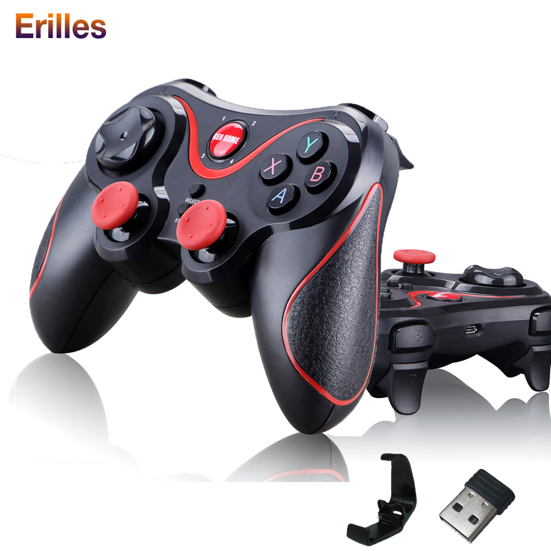 For IOS Android Wireless T3 Gamepad  Bluetooh Joystick Game Controller for Phone PC TV BOX Holder Gaming Remote Control Gamepad