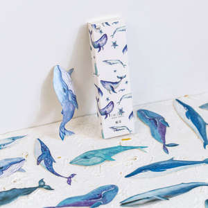 30pc/Box Whale Fish Bookmark Book Mark Magazine Note Label Memo Note Label Bookmark School Office Supplies Children Students