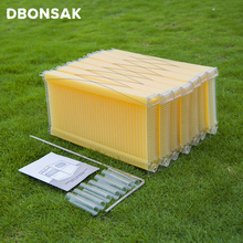 7 шт./упак. автоматический пчелиный улей пластиковые медовые расчески улей рамки для пчеловодства инструменты улей сад Авто пчелиное гнездо
