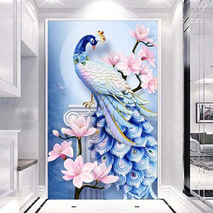 5D DIY Diamond Embroidery Animal peacock Cross stitch Diamond Painting Round Drill Picture Of Decor Christmas present