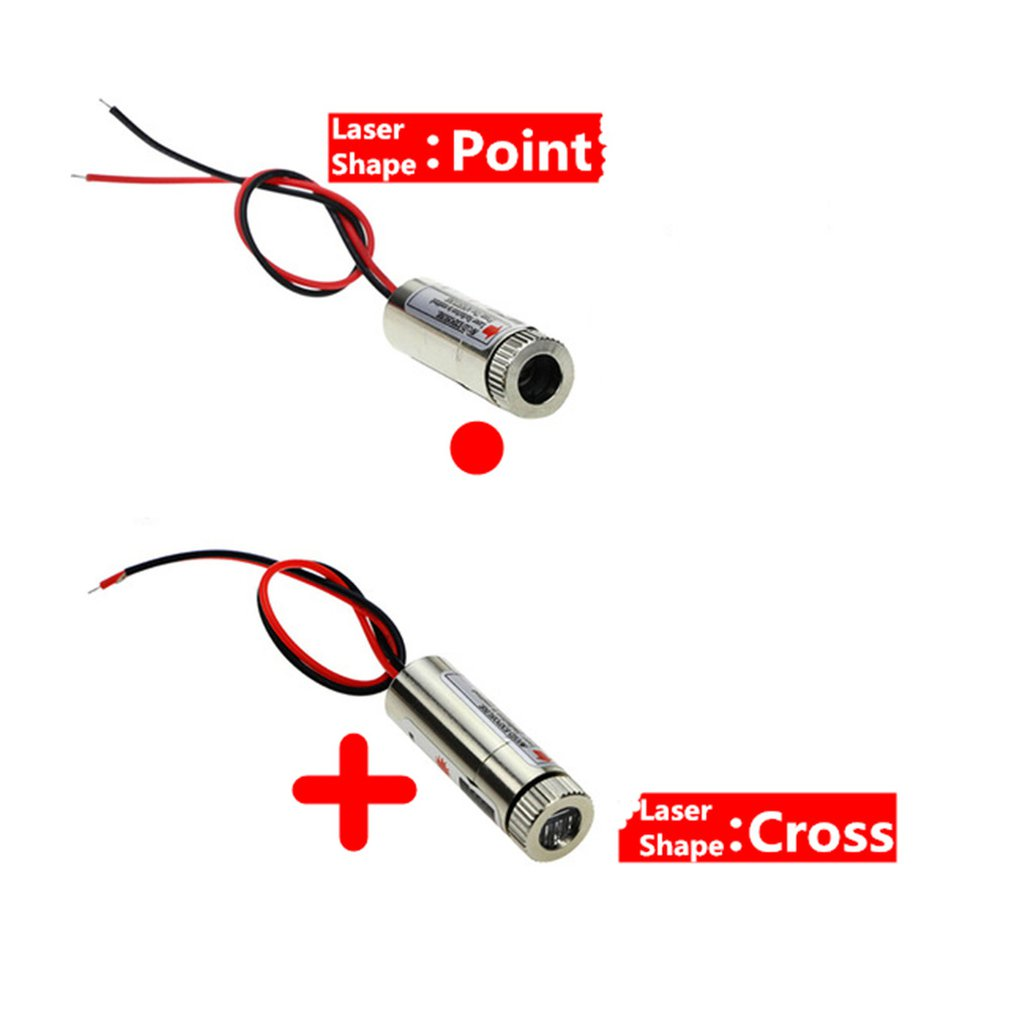 650nm 5mw Red Dot /Cross Laser Module Head Glass Lens Can Focus On Industrial Grade Focus Adjustment Laser Head