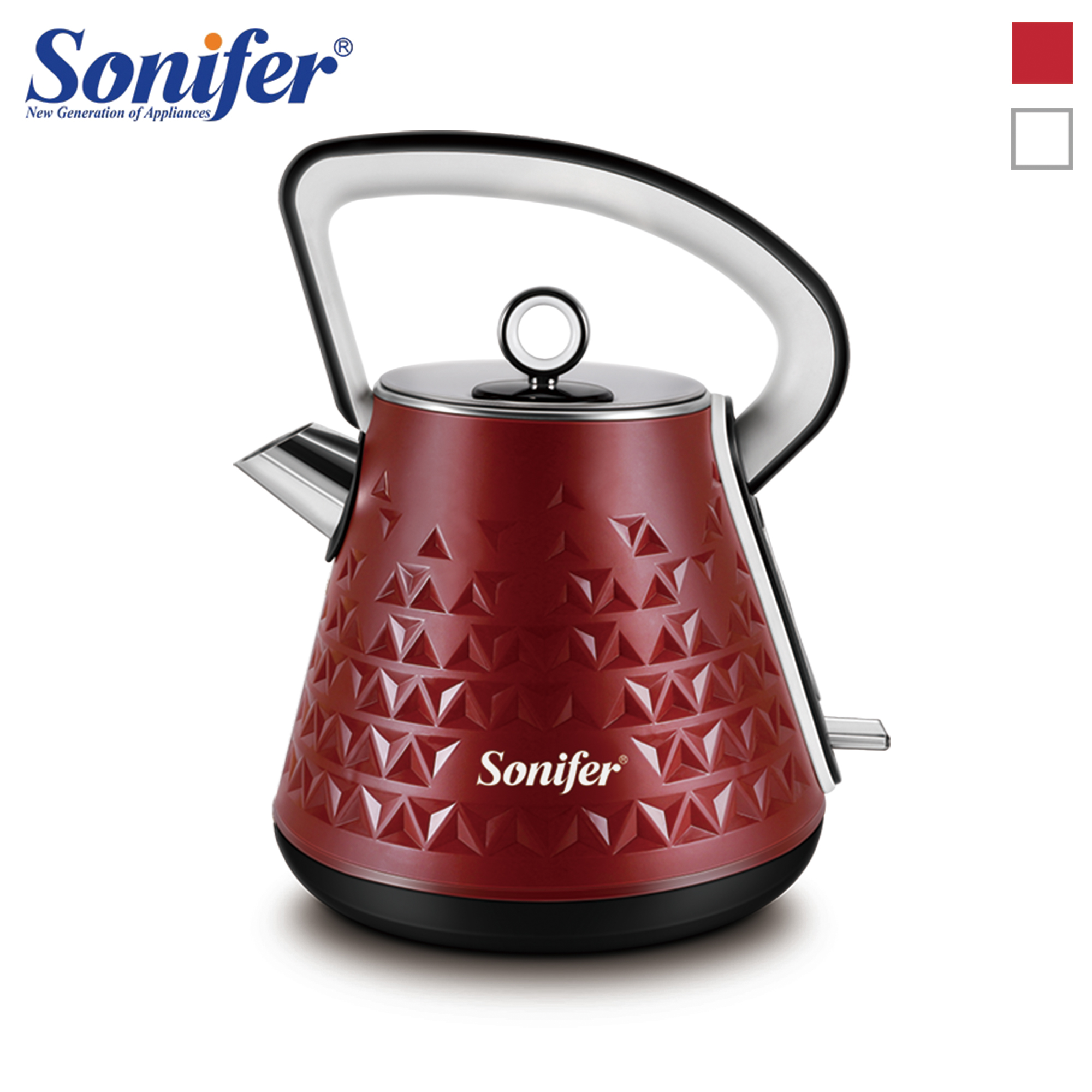 1.7L Stainless Steel Classical Electric Kettle Household Quick Heating Electric Tea Pot 220V Sonifer