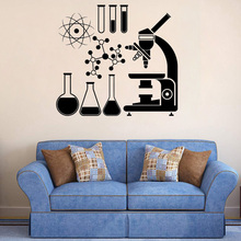 Electron Science Vinyl Wall Stickers Chemistry Nuclear Physics Decor Sticker Adesivo de parede Muurstickers LW574