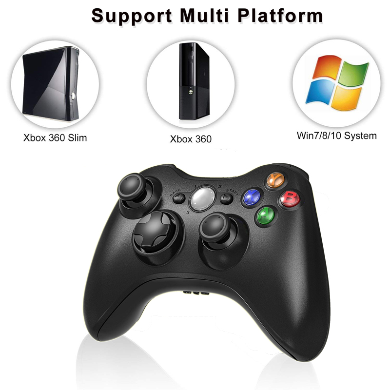 2.4G Wireless Gamepad For Xbox 360 Console Controller Receiver Controle For Microsoft Xbox 360 Game Joystick For PC win7/8/10 gamepad controller for pc 2.4g wireless game controllerxbox 360 pc controller - AliExpress