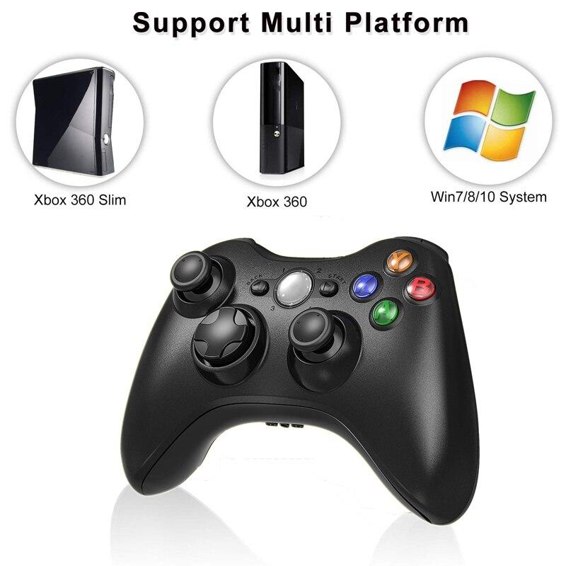 2.4g sem fio gamepad para xbox 360 console controlador receptor controle para microsoft xbox 360 jogo joystick para pc win7/8/10