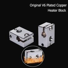 Heater-Block Extruder Hotend Copper E3d V6 Parts 3d-Printer V6-Nozzle for J-Head V6-Plated