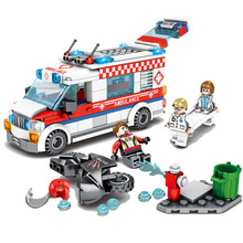 New Enlighten City Ambulance Nurse Doctor First Aid Fit  City Figures Friends Building Block Bricks Diy Toys Kid Gift mary maccracken city kid