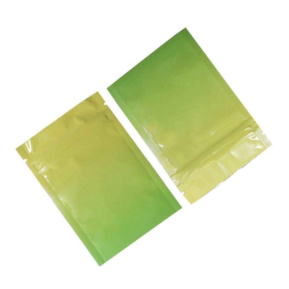 黄绿渐变铝箔自封袋 D