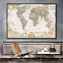 2011 Edition The World Physical Map With Population Density Dooge Projection Fine Canvas Painting For Home Wall Decor