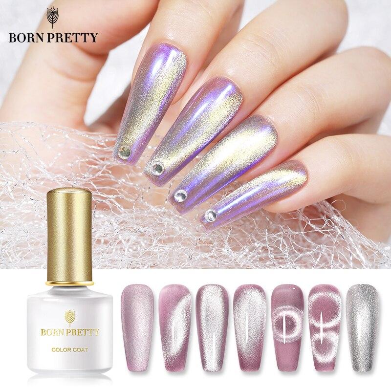 Магнитный Гель-лак BORN PRETTY 9D Серебряный полупрозрачный гель для ногтей 6 мл отмачиваемый гель УФ светодиодный гель для ногтей DIY