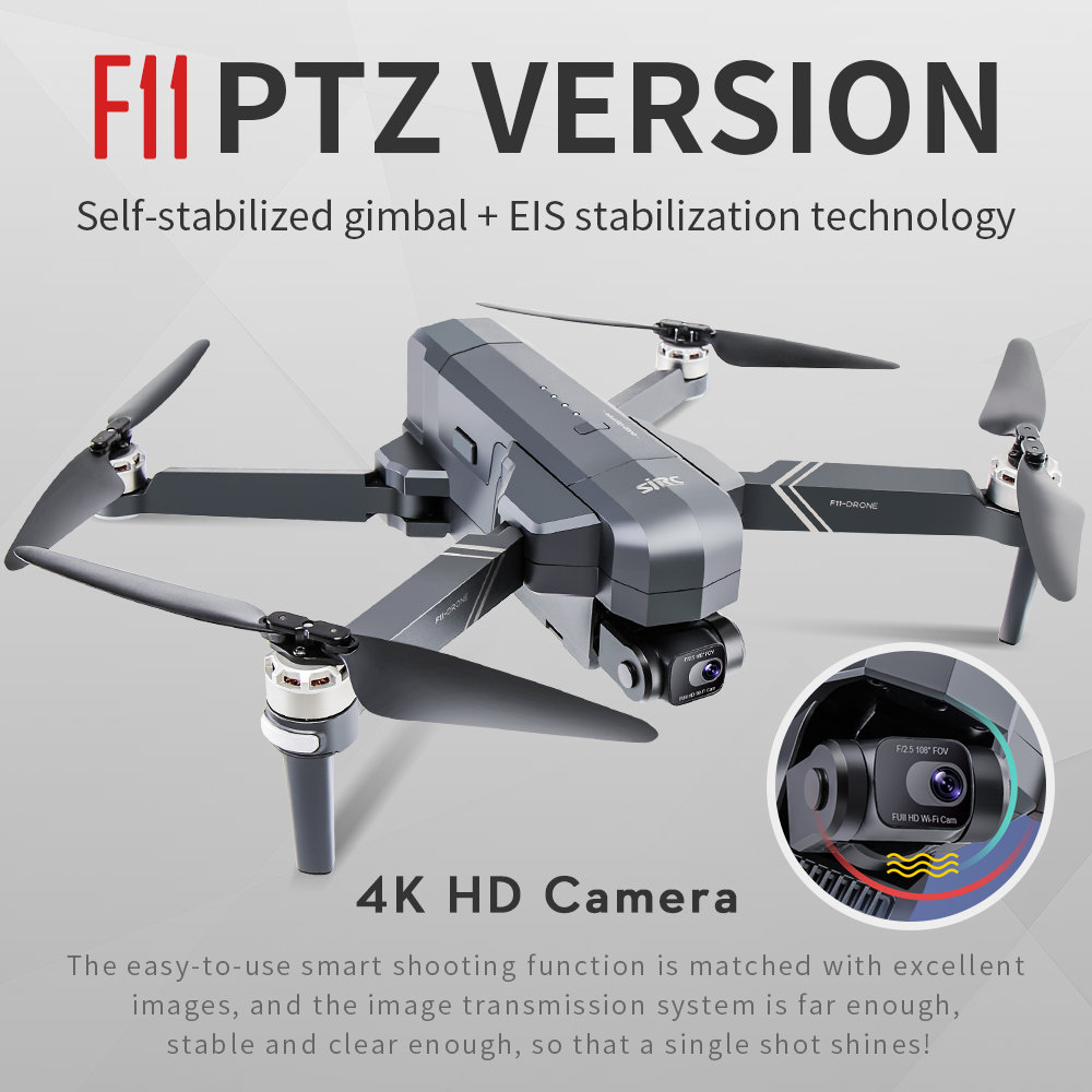 2020 NEW F11 PRO Professional 4K HD Camera Gimbal Dron Brushless Aerial Photography WIFI FPV GPS Foldable RC Quadcopter Drones 3