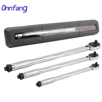 Onnfang Torque Wrench Bike 1/4 3/8 1/2 Square Drive 5 210N.m Two way Precise Ratchet Wrench Repair Spanner Key Hand Tools Wrench Tools -