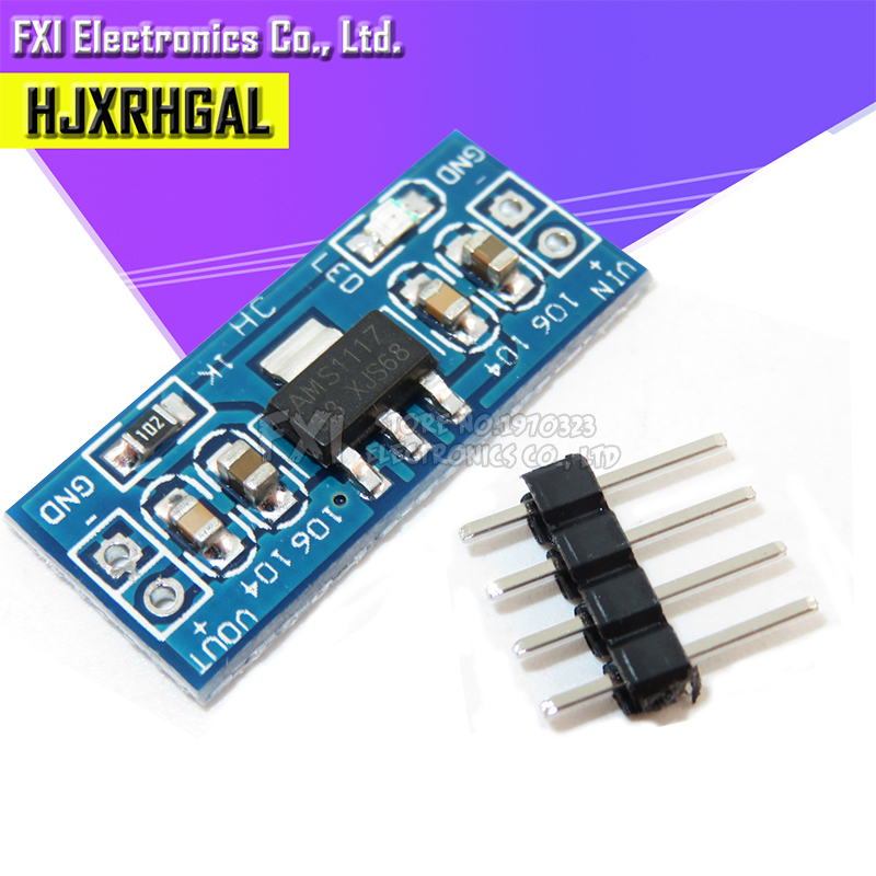 10pcs High Quality 5V to 3.3V For DC-DC Step-Down Supply Buck Module AMS1117 3.3V LDO 800MA AMS1117-3.3V new image