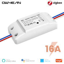 Tuya Zigbee 3,0 16A DIY Smart Wireless Remote Schalter Breaker Fan Licht Controller Modul Smart Leben Alexa Google Home Assistent