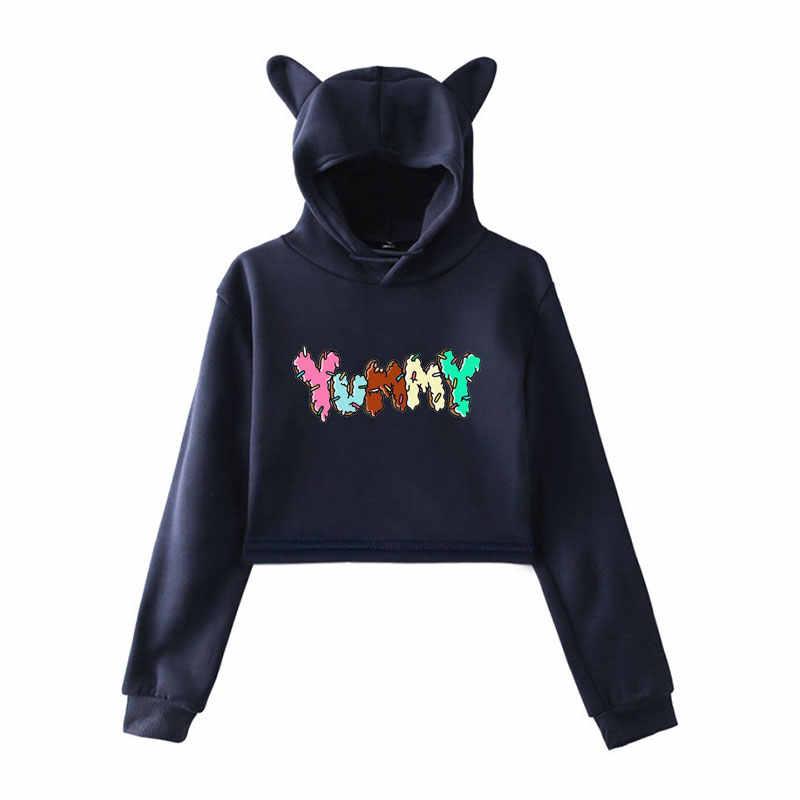 Justin Bieber Yummy Hoodies Women Sweatshirts Harajuku Crop Top Hoodie Pink Clothes For Girls Outwear Womens Long Sleeve Tops Aliexpress