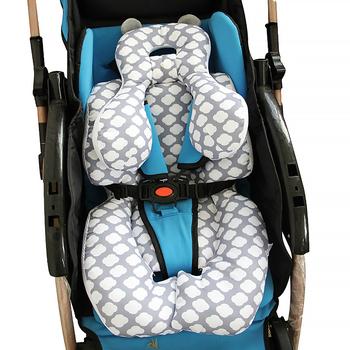 Modne siedzisko do spacerówki dla dzieci miękka bawełna wózek dziecięcy mata wygodna poduszka dla niemowląt Buggy Pad na wózki dziecięce akcesoria do wózka dziecinnego tanie i dobre opinie 7-12y 3-6y 25-36m 13-24m 7-12m W wieku 0-6m Unisex CN (pochodzenie) 71*37cm 27 9*14 54inch(L*W) baby car pad fabric stroller cushion
