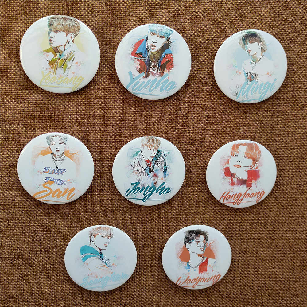 1pcs Kpop ATEEZ Cartoon badge YEO SANG brooch ATINY peripheral wholesale hot sale kpop Ateez photo album badge brooch