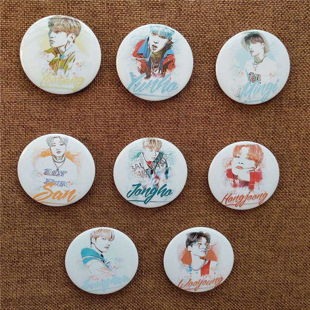 1pcs Kpop ATEEZ Cartoon Badge YEO SANG Brooch ATINY Peripheral Wholesale Hot Sale Kpop Ateez Photo Album Badge Brooch