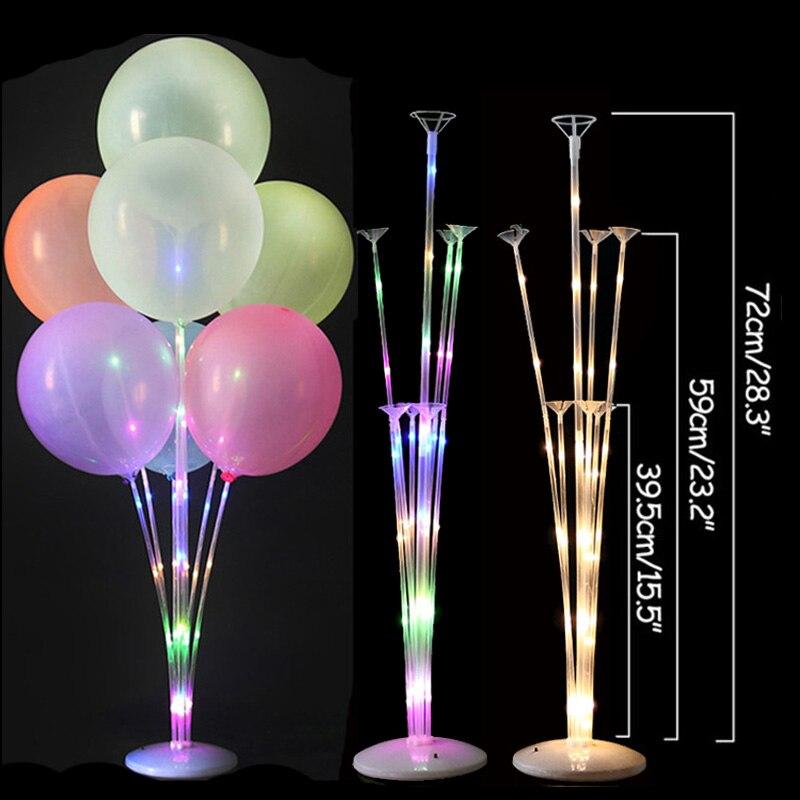 7/11/13/19 Tubes Balloon Stand Holder Column Confetti Balloons Happy Birthday Ballon Kids Baby Shower Wedding Party Decorations 5