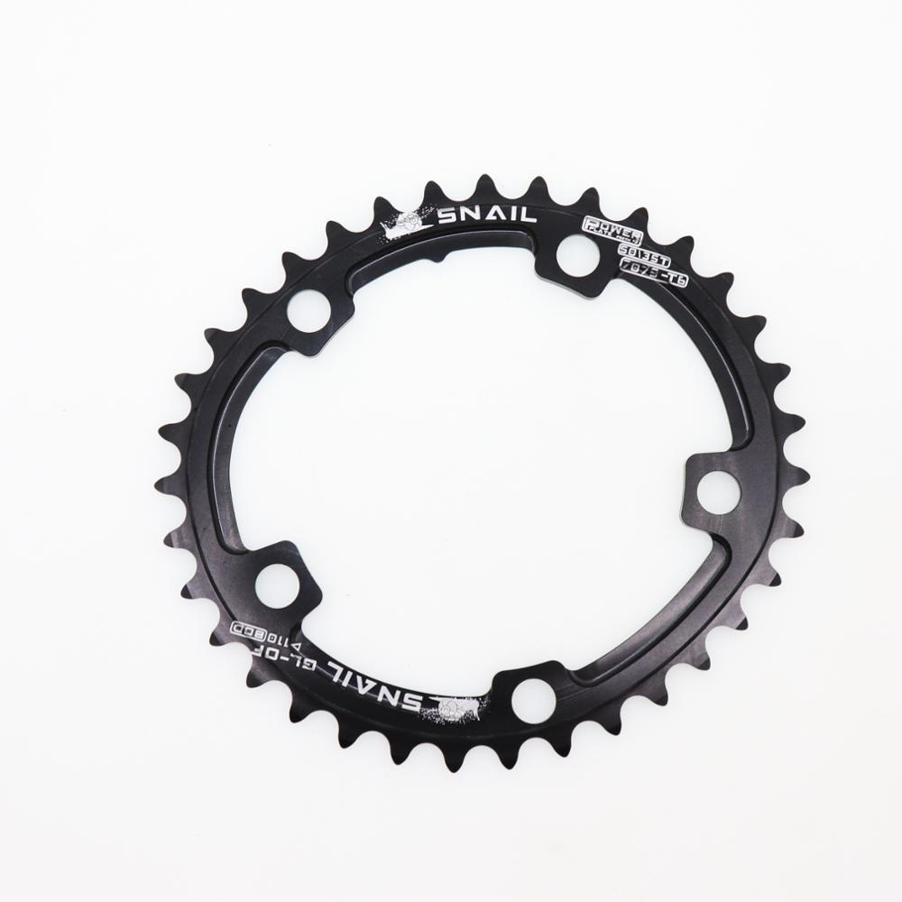 110BCD 50//35T Double Oval Chainring Road Folding Chain Sprocket Double Speed CNC