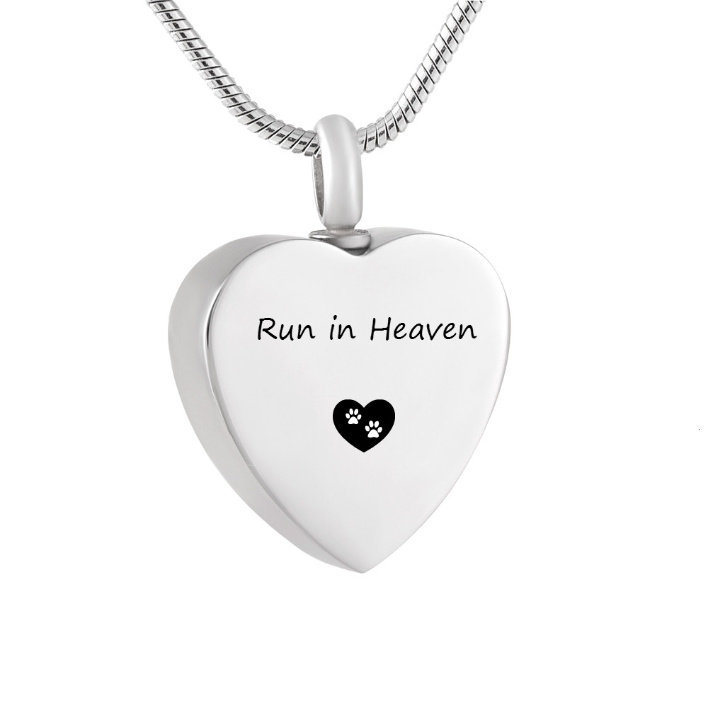LHP216 Pet Memorial Urn Necklace-Run in Heaven Pet Cremation Jewelry for <font><b>Dog</b></font> <font><b>Cat</b></font> Funearal Ashes Keepsake <font><b>Jewellery</b></font> image