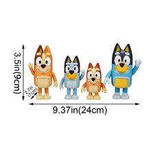 4pc bluey família brinquedo pacote figura feita um multi-colorido brinquedo presente para suas crianças bluey brinquedos à mão para crianças juguete