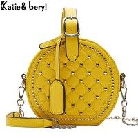 Стеганая круглая сумка с клепками Цена 1184 руб. ($14.98) | 6 заказов Посмотреть