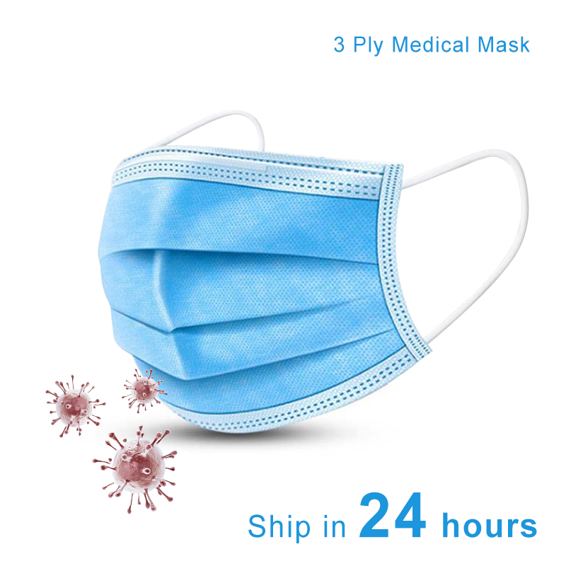 Image 2 -  グループ  上の 高速 1day 顔口 N95 マスク 3 層 PM2.5 使い捨てアンチダスト外科医療マスク Earloops マスクダストウイルス安全 KN95